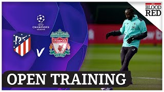 Open Training | Shaqiri misses out | Atletico Madrid vs Liverpool | Champions League