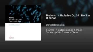Brahms : 4 Ballades Op.10 : No.3 in B minor
