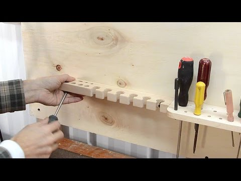 Making wall tool holders