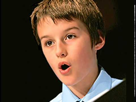 Moray West, boy soprano, sings Queen of the Night