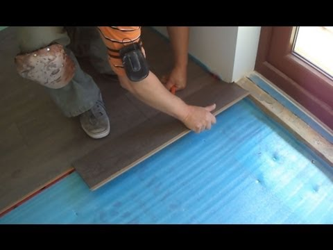 How To Lay Laminate Wood Flooring Close To The Patio Door