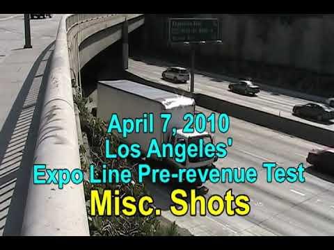 Los Angeles Metro Blue / Expo Line Testing - April 7, 2012