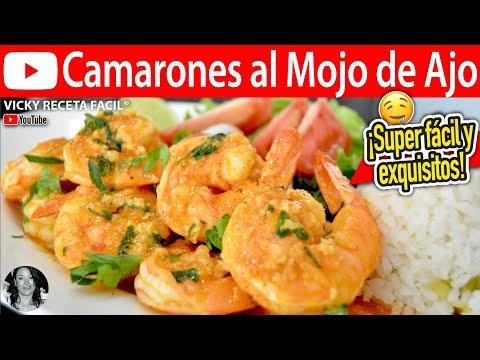CAMARONES AL MOJO DE AJO | Vicky Receta Facil