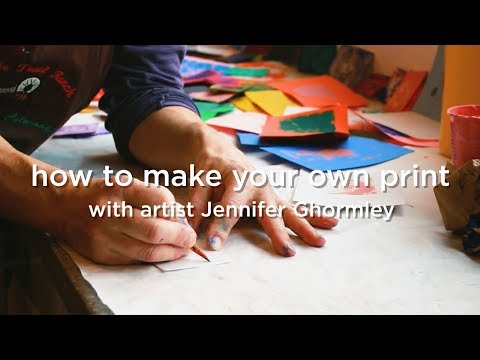How to make your own print with Jennifer Ghormley