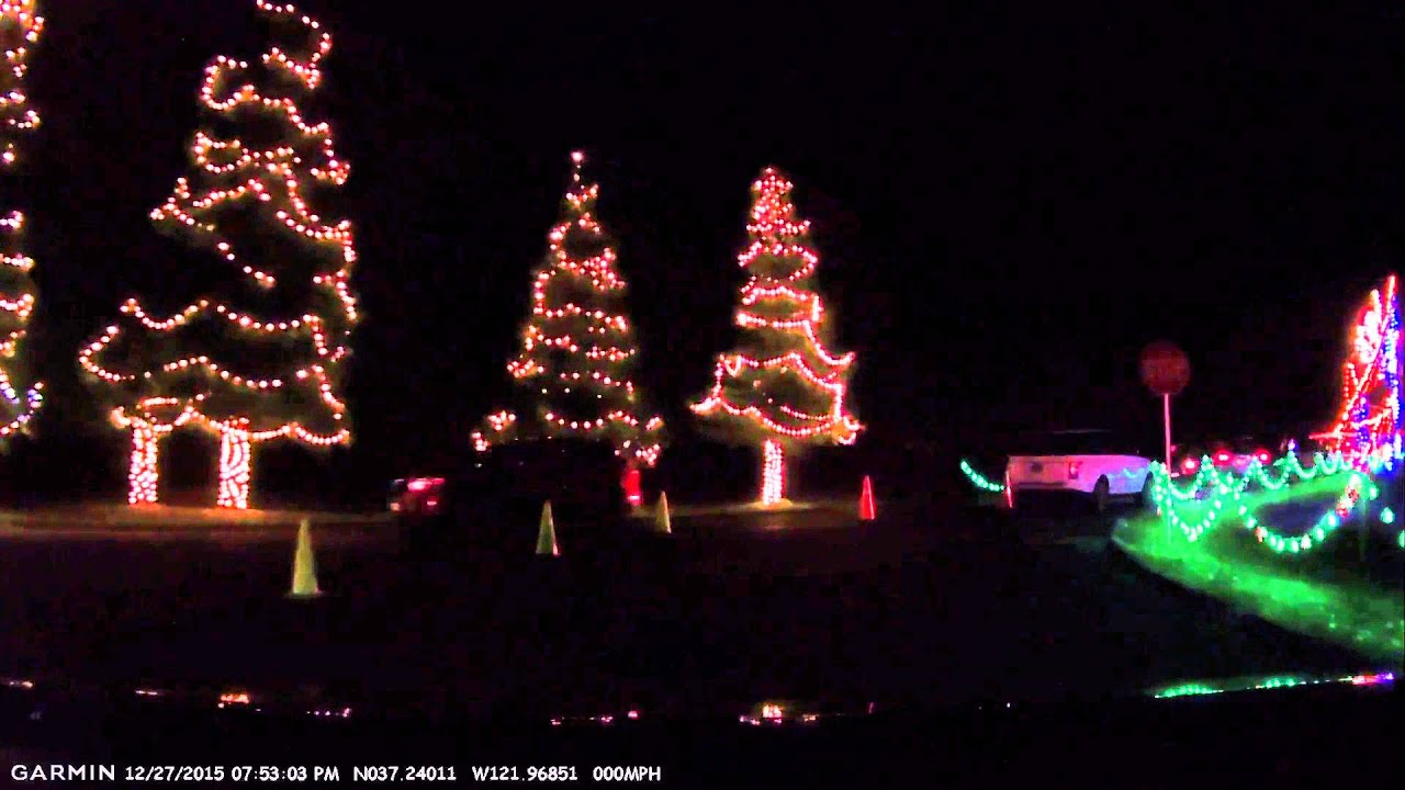 Vasona Park Christmas Lights Dec 2015 - YouTube