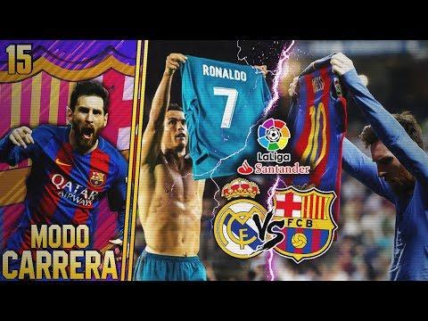 FIFA 18 | MODO CARRERA - FC BARCELONA | 🔴¡EL CLASICO VS. REAL MADRID EN DIRECTO! #15