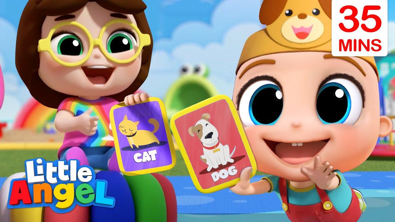 Animal Sounds Game + More Little Angel Kids Songs & Nursery Rhymes