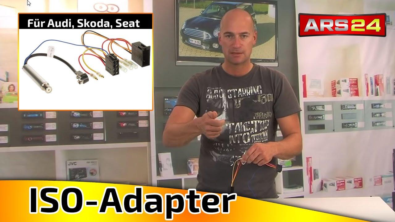 Iso Adapter Mit Phantomspeiung Fr Die Antenne Von Audi Vw Seat 1996 80 Fuse Box Youtube