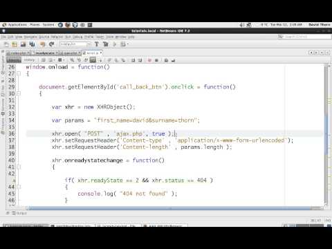 AJAX XMLHttpRequest - Javascript - Using POST Request - DETAILED - Part 4 of 4