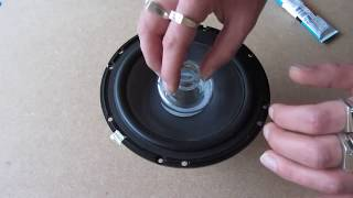 "DIY How to repair refoam a speaker woofer rubber edge kit 6.5"" JBL"