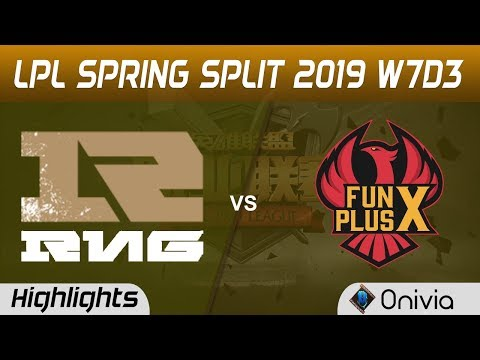 RNG vs FPX Highlights Game 1 LPL Spring 2019 W7D3 Royal Never Give Up vs FunPlus Phoenix by Onivia