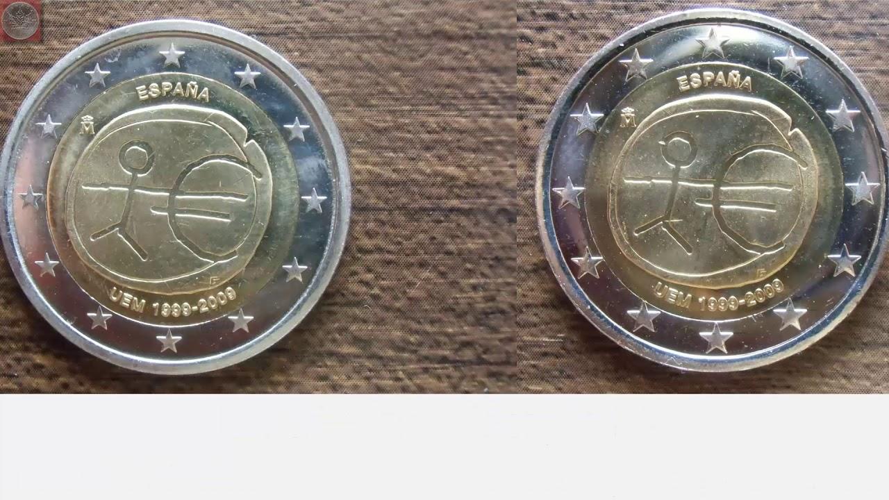 2 Euro Spanien 2009 Variante Große Sterne Und Weitere