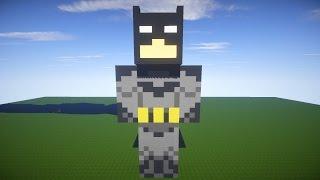 Как построить БЕТМЕНА в Майнкрафт - Бетмен в майнкрафт