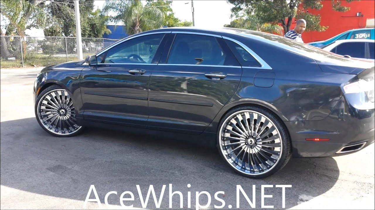 "2016 Lincoln Town Car >> AceWhips.NET- First 2014 Lincoln MKZ on 24"" Forgiatos by ..."