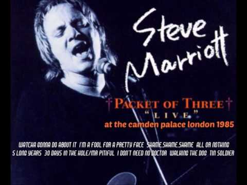 STEVE MARRIOTT & PACKET OF 3...LIVE AT CAMDEN PALACE LONDON 1985