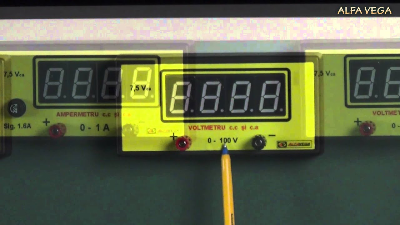 Aparate De Măsură Ampermetru Electronic Si Voltmetru Electronic