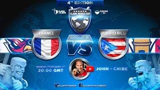 🔴 COUPE DU MONDE CLASH OF CLANS   FRANCE vs PORTO RICO   1er MATCH CWC
