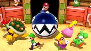 Mario Party Series MiniGames - Mario vs Luigi vs Peach vs Wario (Master CPU)