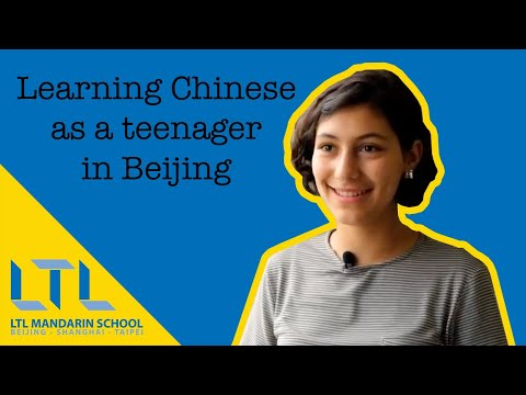 High School Student studying in China