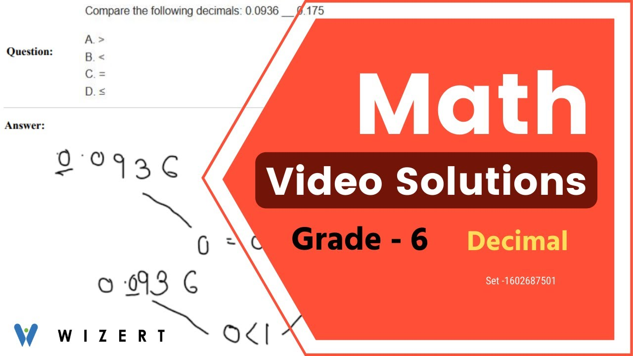 medium resolution of Grade 6 Mathematics Worksheets - Decimal worksheet pdfs for Grade 6 - Set  1602687501 - YouTube