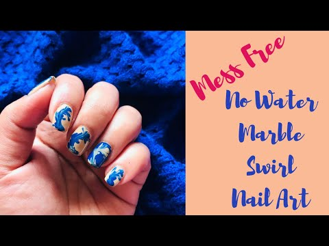 Nail Art No Water Marble
