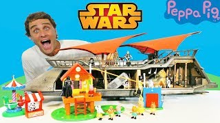 Jabba's Sail Barge & Peppa Pig's Treehouse Birthday Party ! Toy Review Konas2002
