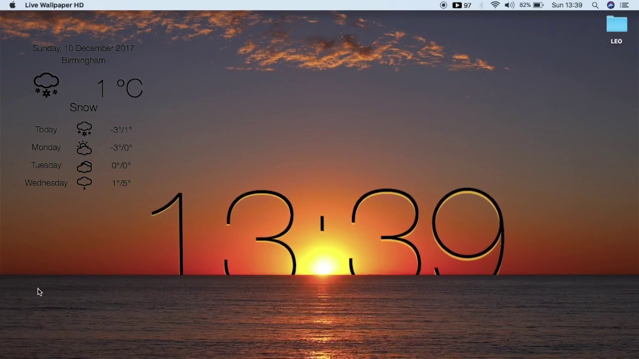 HOW TO GET FREE LIVE WALLPAPER & WEATHER WITH CLOCK HD FOR MAC || LIVE DESKTOP || # LEO HANSPAL ...