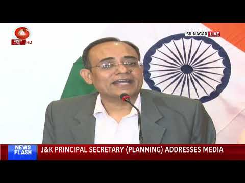 J&K Principal Secretary (Planning) addresses media