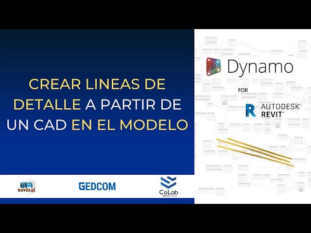Convertir líneas de archivo CAD en Revit con Dynamo | Demostración