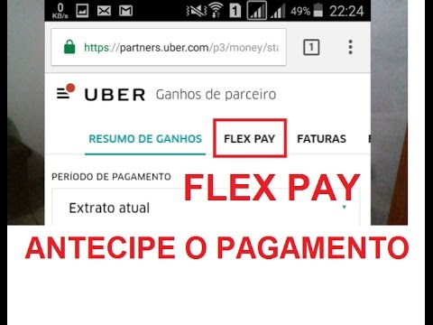 antecipe o pagamento uber flex pay youtube. Black Bedroom Furniture Sets. Home Design Ideas