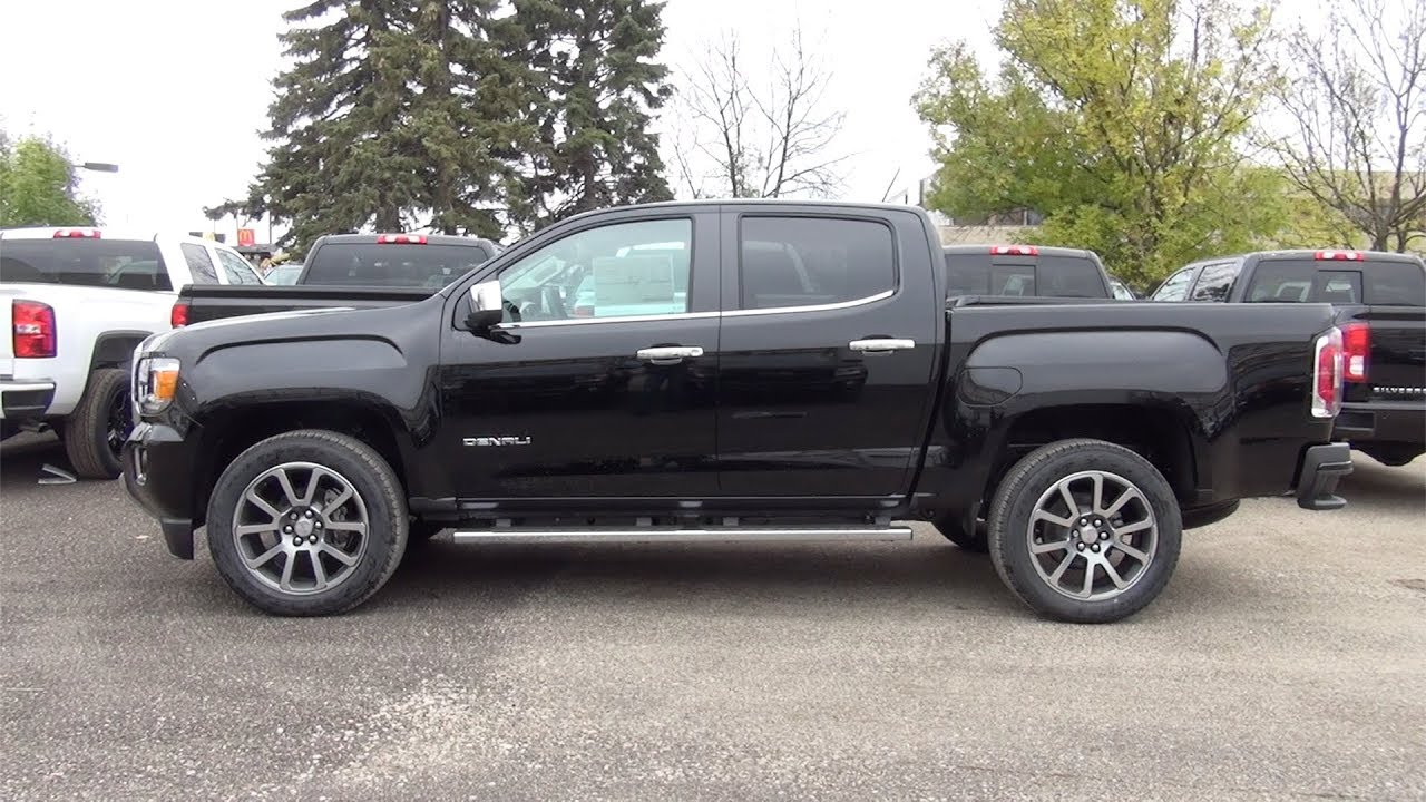 2018 GMC CANYON CREW CAB SHORT BOX 4-WHEEL DRIVE DENALI - YouTube