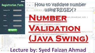Java Validation: Validating a Number | How to Accept Only Numbers From JTextfield in Java Swing