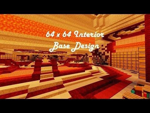 64x64 Factions Base Tour (Minecraft Faction Interior Design Ep 9) W/ Download