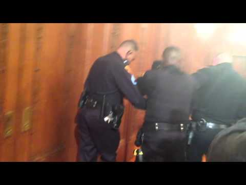 Protester arrested at Cleveland City Hall