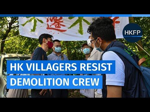Hong Kong villagers evade eviction after resisting demolition crew