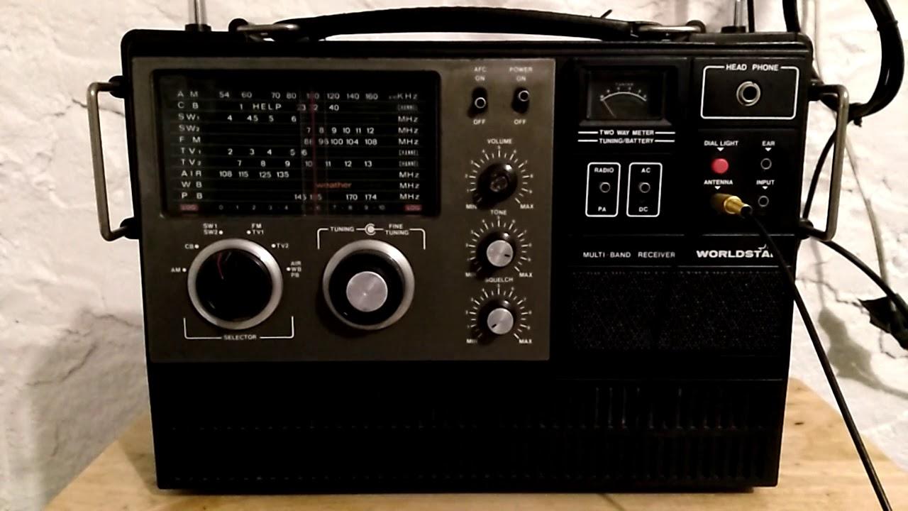 1974 Vintage Worldstar MG-6000 Multi Band Radio - Shortwave broadcast of WHRI @ 7315 kHz
