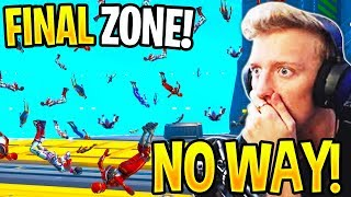 STREAMERS REACT TO *UNLUCKIEST* FINAL ZONE in Fortnite! (50 PLAYERS FLYING)