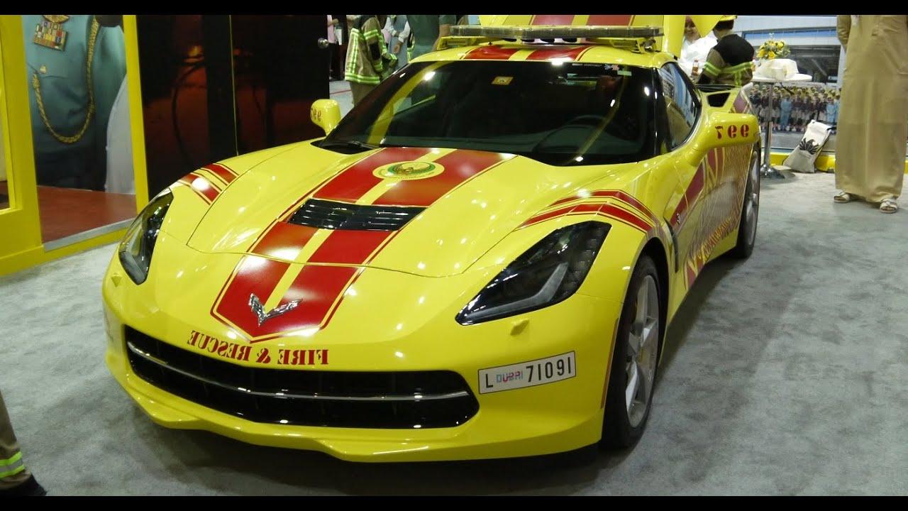 Dubai Emergency Super Cars, Corvette, Lotus, Challenger, BMW, Lexus