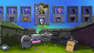 Plants vs zombies-night level 5-6
