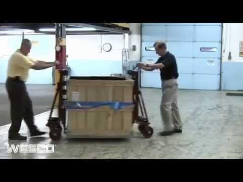 Wesco® Hydraulic Raise-N-Roll Machinery Dolly T97214106