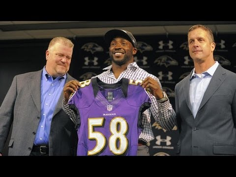 Baltimore Ravens introduce Elvis Dumervil
