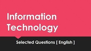 INFORMATION TECHNOLOGY - MOCK TEST [ENGLISH ] | Assistant Grade 2 | Degree Level Exam Coaching