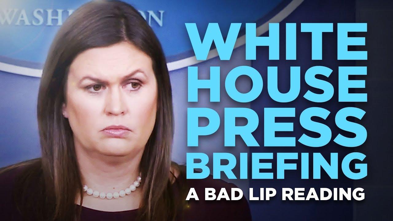 How White House press briefings sound in Sarah Huckabee Sanders