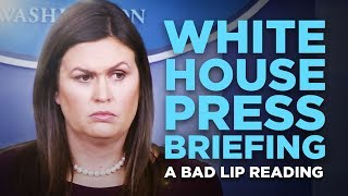 """WHITE HOUSE PRESS BRIEFING"" - A Bad Lip Reading"