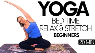 Bed Time Yoga Stretches for Sleep & Relaxation | Wind Down with Corrina, 20 Minute Beginners Class