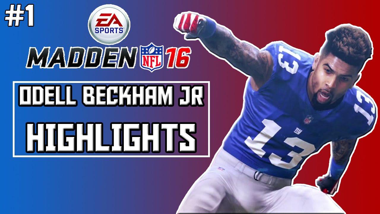 Madden 16 | Odell Beckham Jr. HIGHLIGHTS - YouTube
