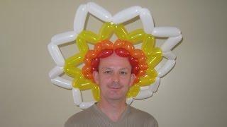 Солнце шапка из шариков