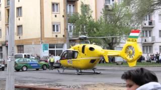Ritka eset: Vásártér- mentőhelikopter