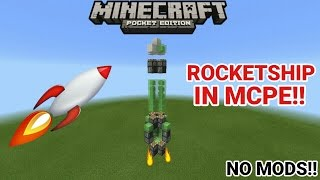 HOW TO MAKE A ROCKETSHIP IN MCPE 1.0!!! | MCPE 1.0 REDSTONE CREATION