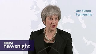 Brexit: Theresa May's Mansion House speech - BBC Newsnight